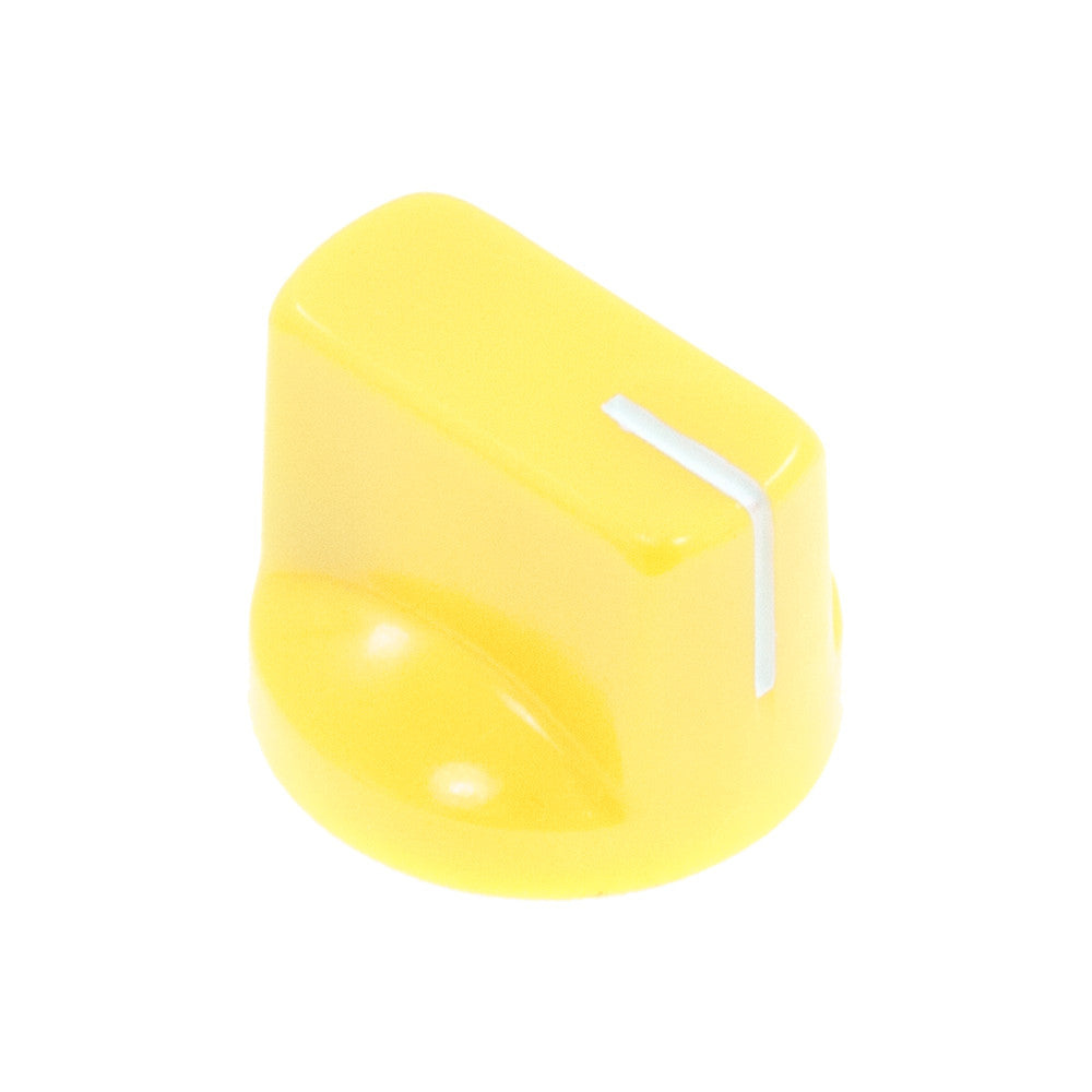 1510 Vintage Yellow Plastic Knob (19 x 14mm) - Mammoth Electronics