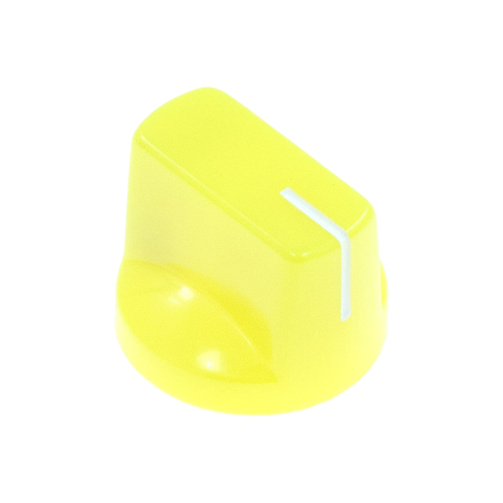 1510 Yellow Plastic Knob (19 x 14mm) - Mammoth Electronics
