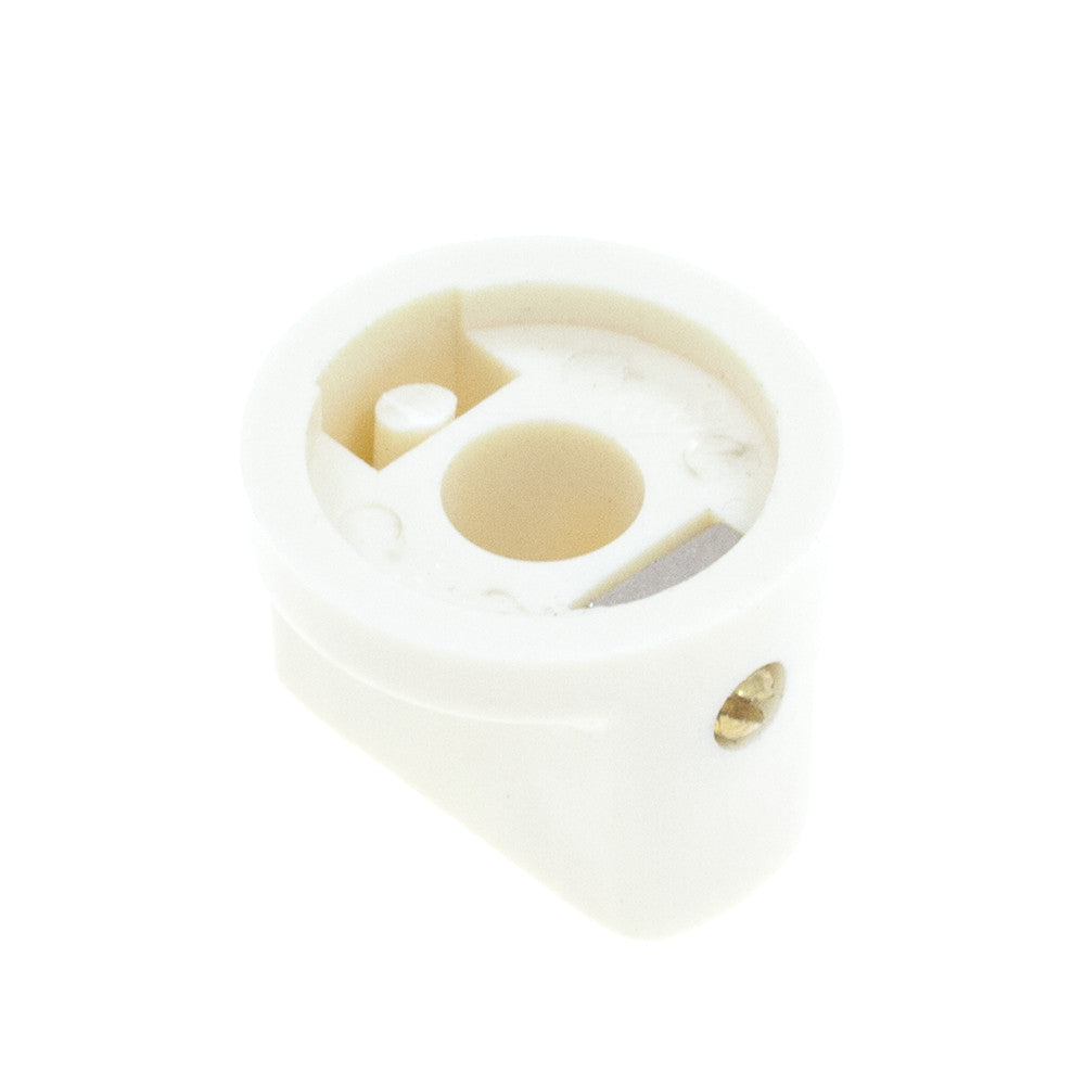 1510 Cream Plastic Knob (19 x 14mm) - Mammoth Electronics
