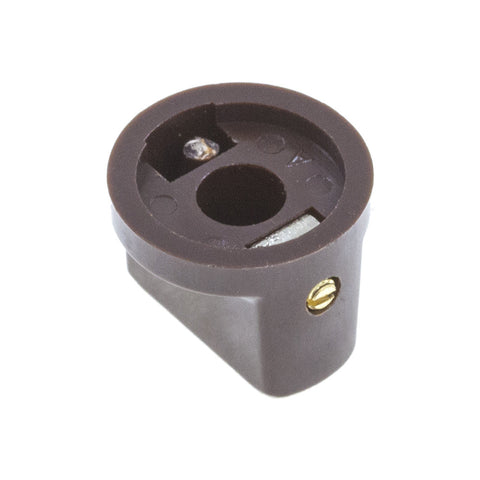 1510 Brown Plastic Knob (19 x 14mm) - Mammoth Electronics