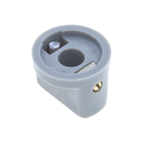 1510 Gray Plastic Knob (19 x 14mm) - Mammoth Electronics