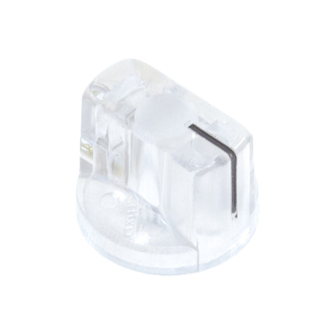 1510 Clear Plastic Knob (19 x 14mm) - Mammoth Electronics