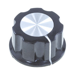 KLGFLBK - Large BOSS Style Black Knob (27mm diameter)