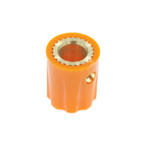 1900 Davies Style Knob w/ Metal Insert - Orange - Mammoth Electronics