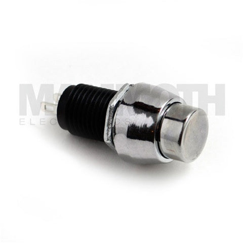 PBS-SPST-M-CH (Single Pole Single Throw (SPST) Momentary ON-OFF Chrome Push Button Switch) - Mammoth Electronics