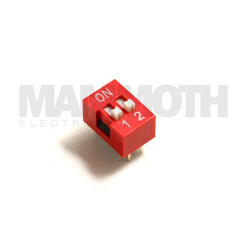 <b>DS-02P</b><br>2 Position Dip Switch - Mammoth Electronics