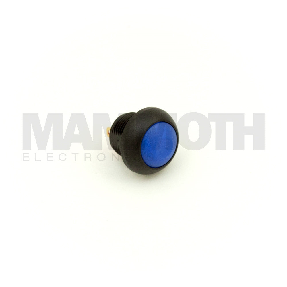 SPST-PBS-RBL (Single Pole Single Throw Momentary Switch with Blue Button & Plastic Casing) - Mammoth Electronics