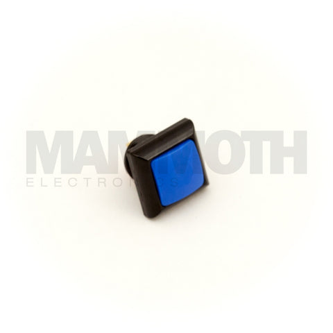 SPST-PBS-SBL-AL (Single-Pole, Single Throw Momentary Switch with Blue LED & Aluminum Casing) - Mammoth Electronics