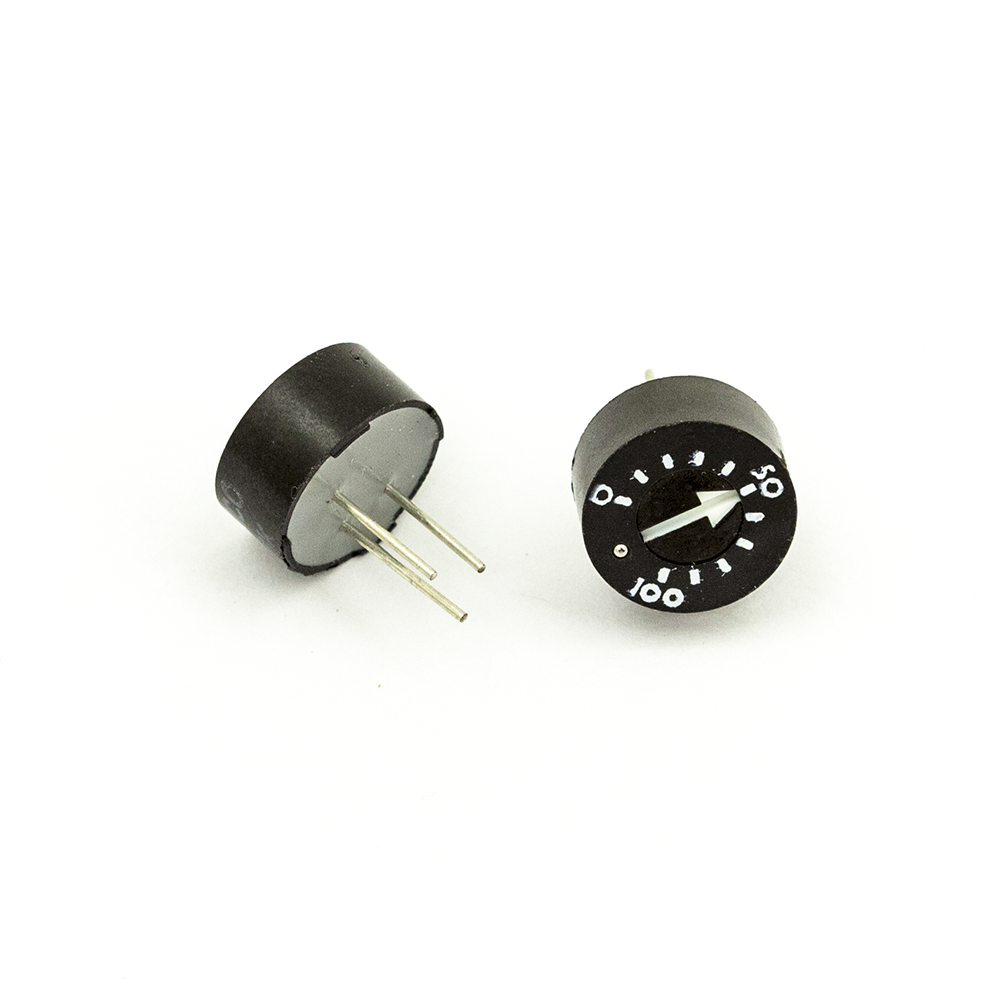 93PR10KLF 10 K OHM THUMBWHEEL TRIM POTENTIOMETER - Mammoth Electronics