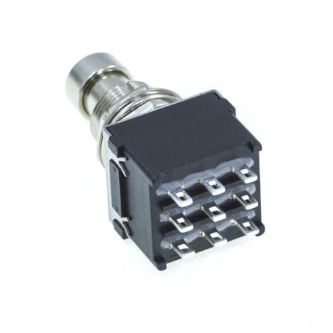 <b>Alpha FS3PDT-LS</b><br>3PDT <i>Latching</i><br>Solder Lug<br>Footswitch