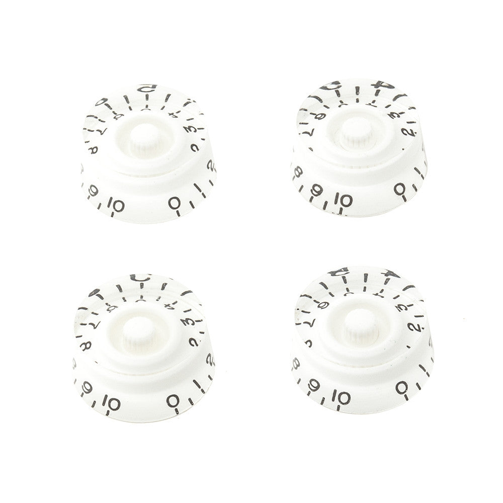 Gibson Style Speed Guitar Knobs - White (Set of 4) - Mammoth Electronics