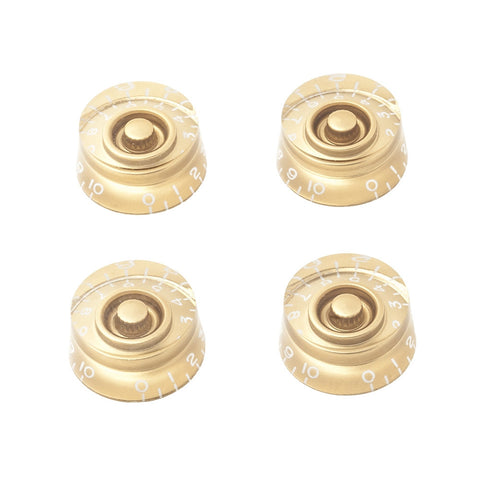 Gibson Style Speed Guitar Knobs - Gold (Set of 4) - Mammoth Electronics