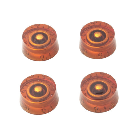 Gibson Style Speed Guitar Knobs - Amber (Set of 4) - Mammoth Electronics