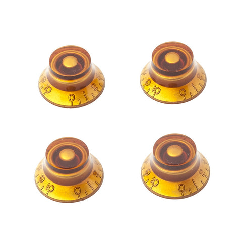 Gibson Style Top Hat Guitar Knobs - Amber (Set of 4) - Mammoth Electronics