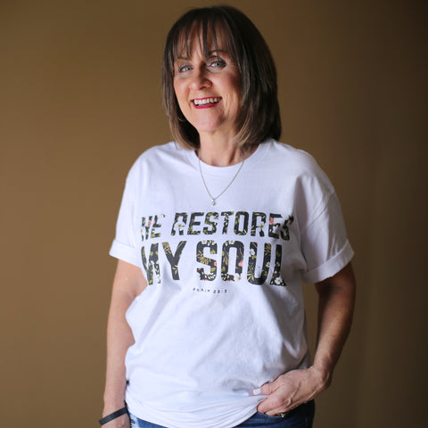 Psalm 23 Shirt - He Restores My Soul