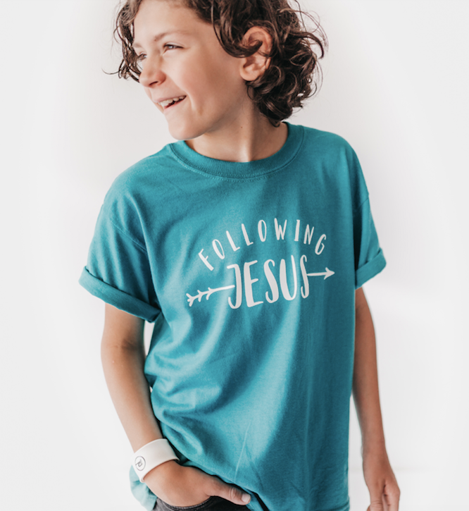GREEN Following Jesus - Youth Shirt