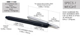 Solid Aluminum Pen + Stylus - Big Idea Design LLC