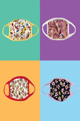 Choice of a baby/toddler ditsy floral printed fabric face mask with ear loops