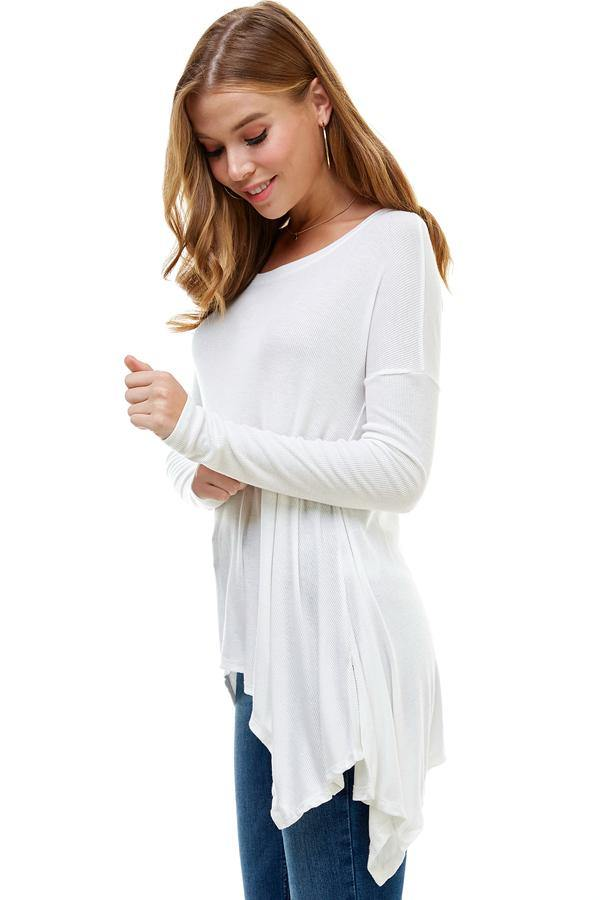 MILEY AND MOLLY MILEY + MOLLY EVERYDAY FAVORITE RIBBED KNIT TOP