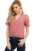 Short Sleeve Surplus W/Lace Top