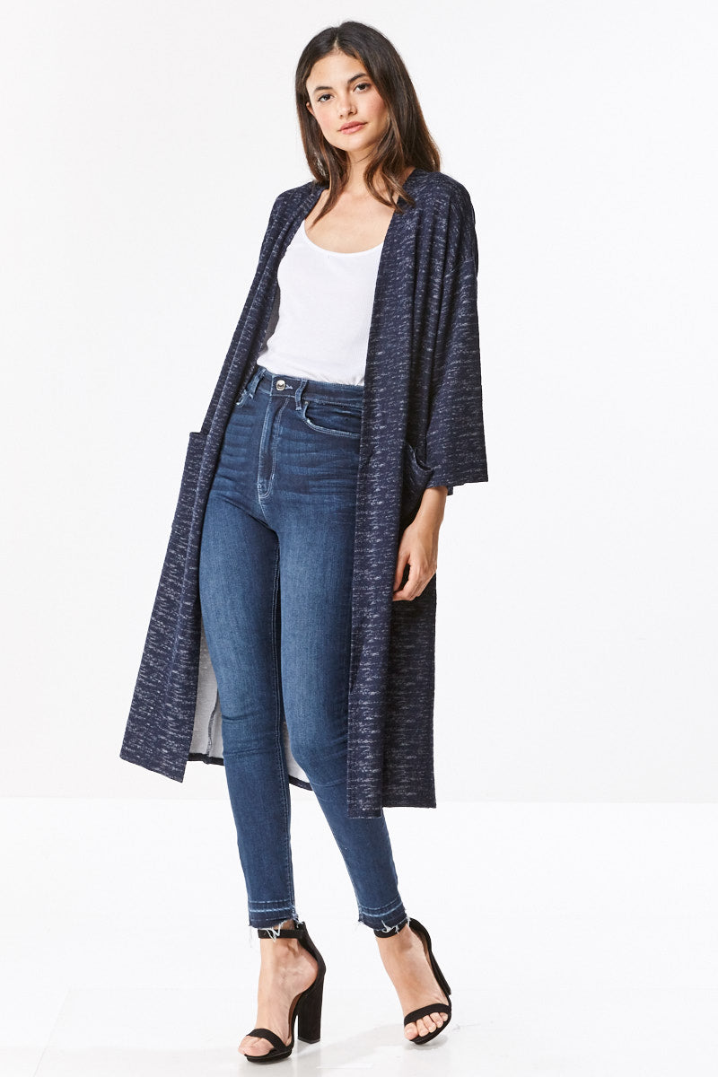 MILEY AND MOLLY Brushed Knit Maxi Cardigan
