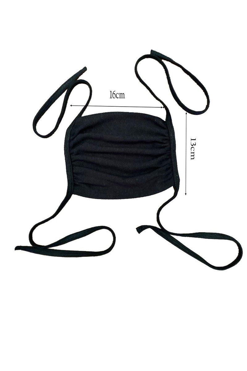 Adjustable tie up washable reusable pack of 4 face mask
