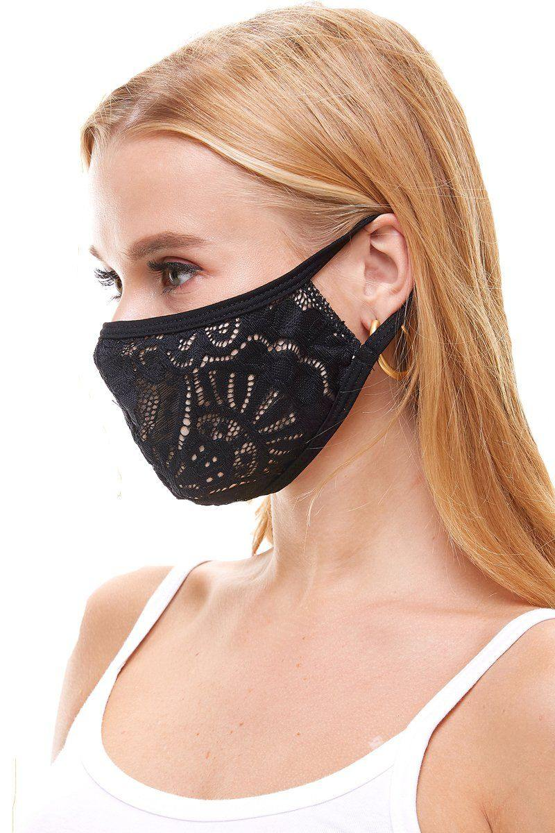 USA made fashion sexy lace face mask
