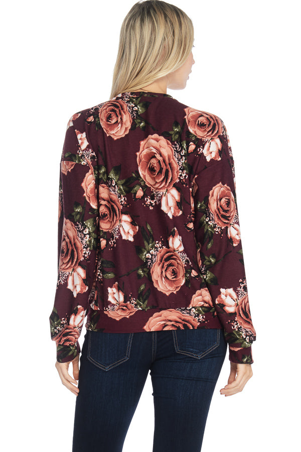 MILEY AND MOLLY MILEY + MOLLY French Terry Floral Print Sweatshirt