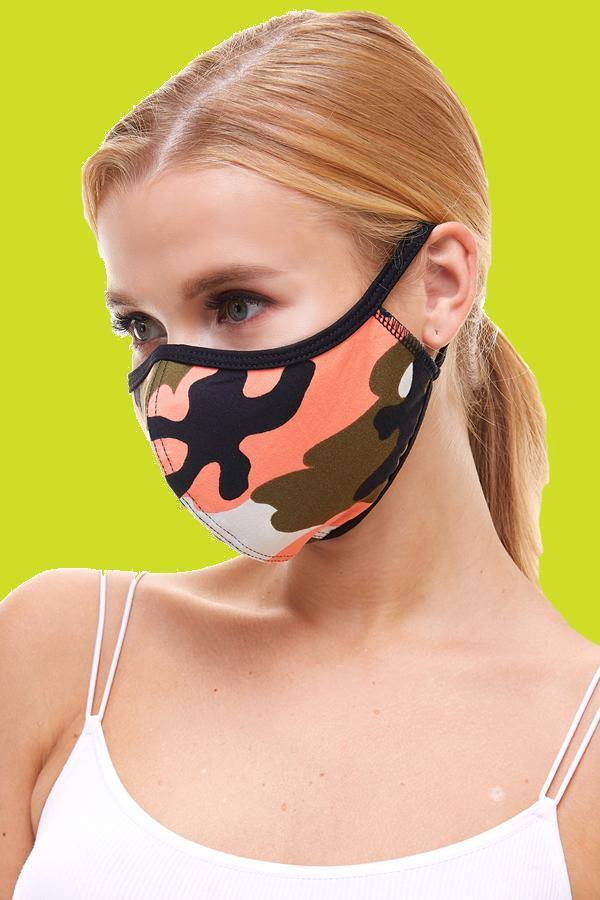 Camouflage fashion cloth fabric face masks