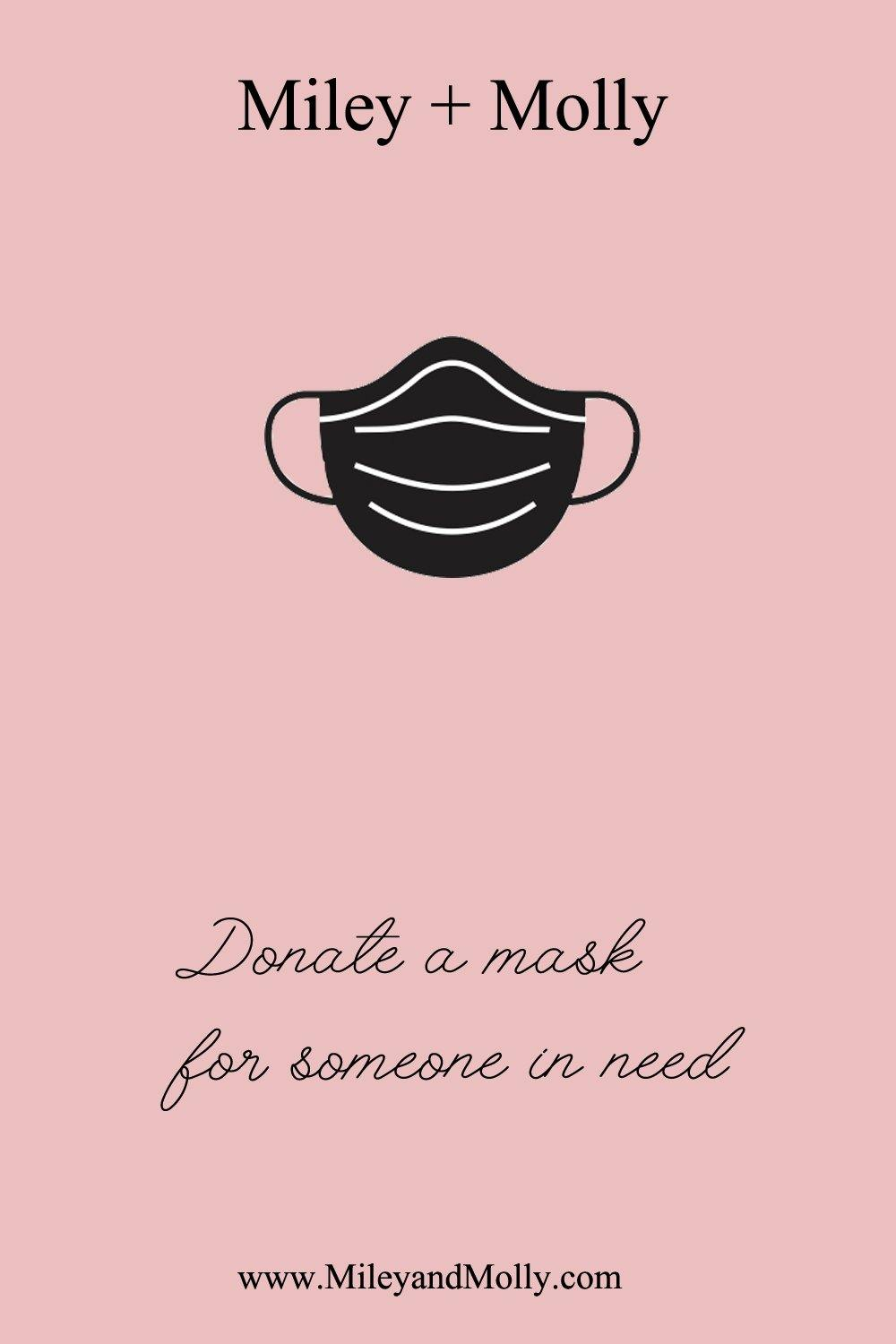Donate a mask for someone in need