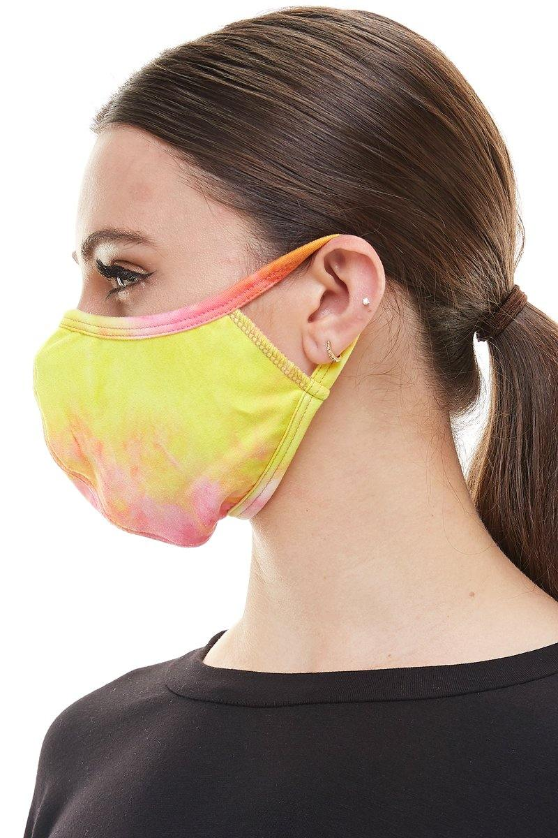 Fashion stretchable ear loops washable reusable fabric face mask