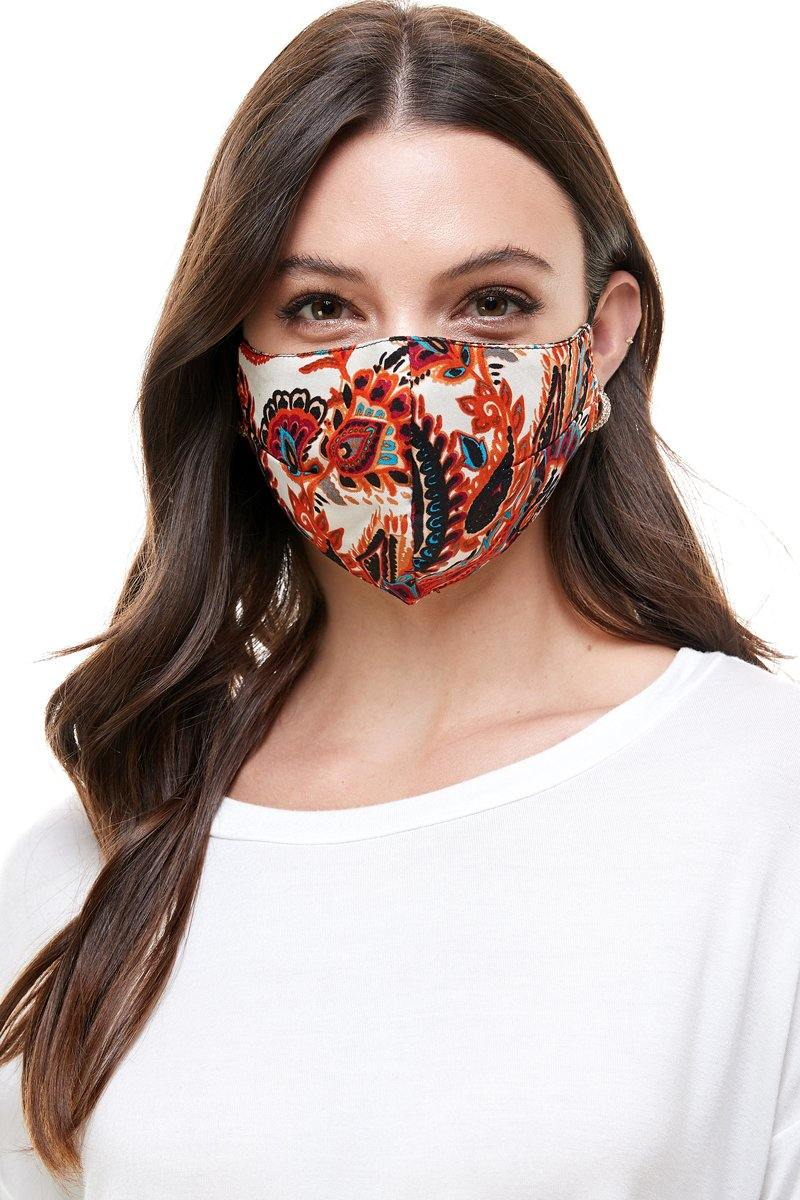 Reversible woven face mask reusable washable cloth mask