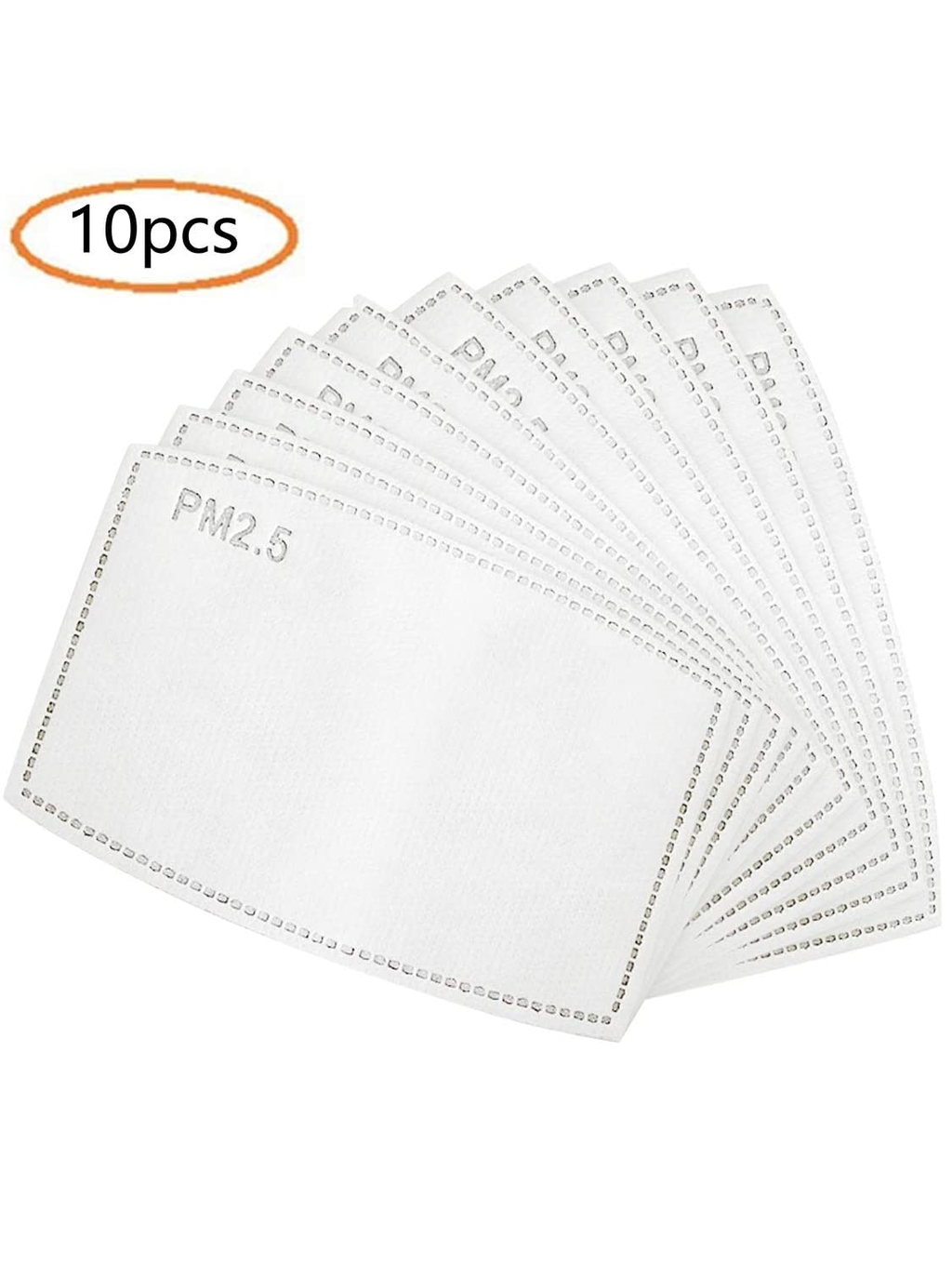 Pack of 10 PM2.5 Mask filter 5 Layers Replaceable Activated Carbon Filter
