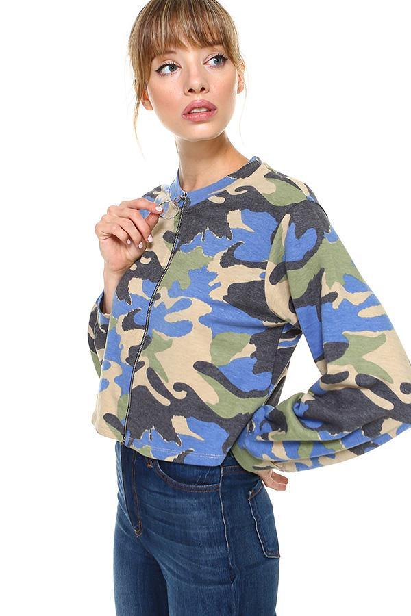 MILEY AND MOLLY MILEY + MOLLY Camo Front Full Zip