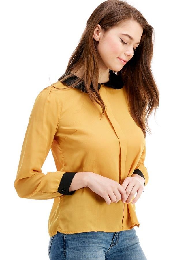 Peterpan Colored Long Sleeve Blouse