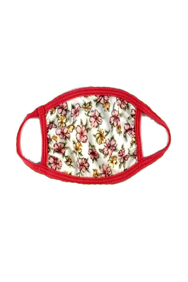Baby Toddler Face mask with Floral ditsy ear loop cloth fabric face mask