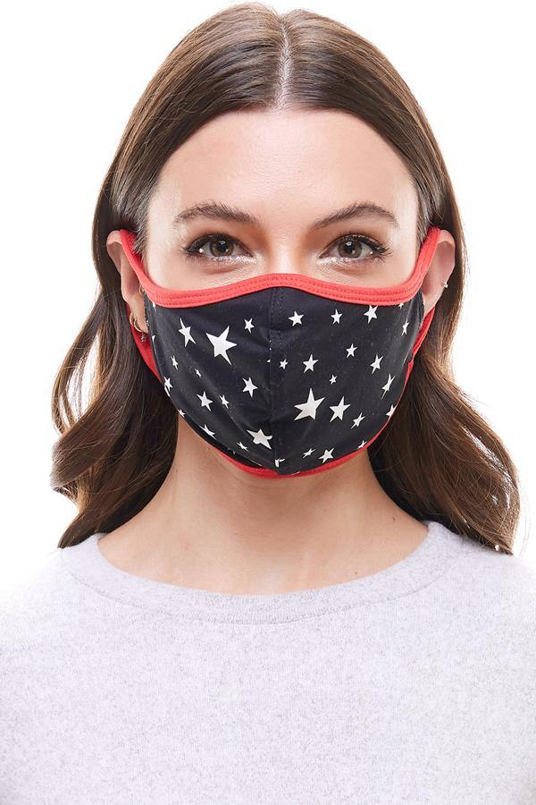 US made America flag star fashion washable reusable cloth face mask