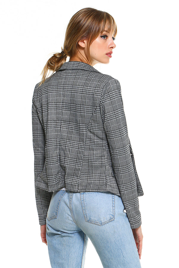 Ponti Plaid Blazer