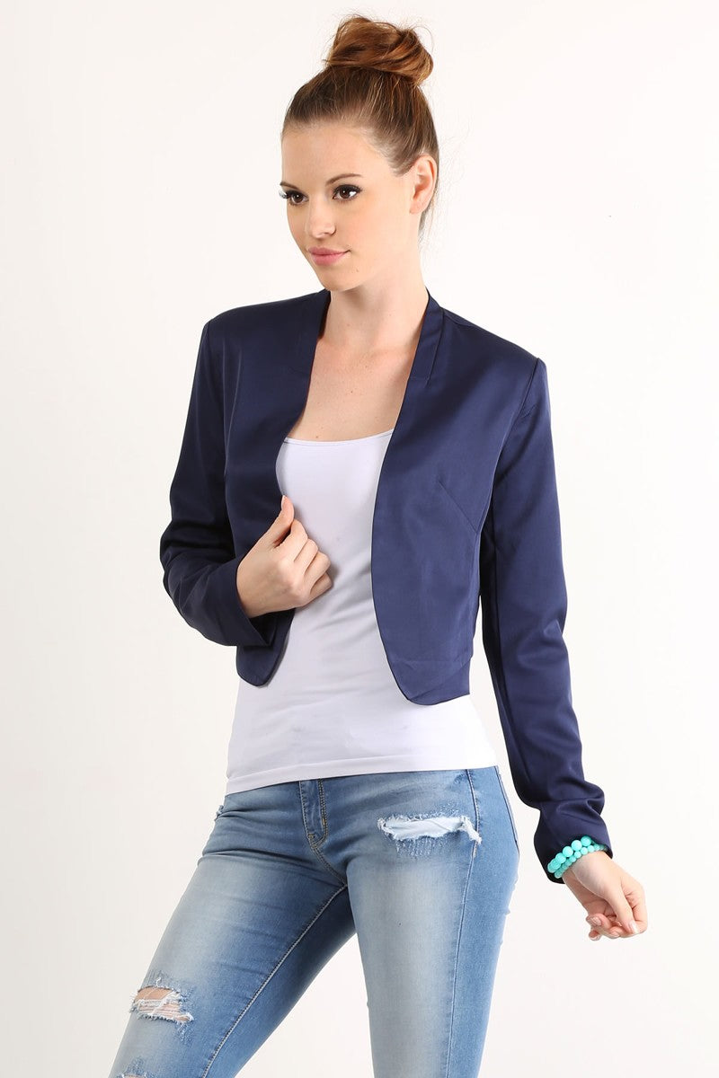 MILEY AND MOLLY MILEY+MOLLY SOLID CROP BLAZER