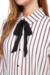 MILEY AND MOLLY MILEY+MOLLY    Stripe Tie Neck Button Down Blouse