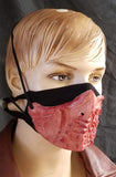 Biomorphic Mask covering - Ruby Red