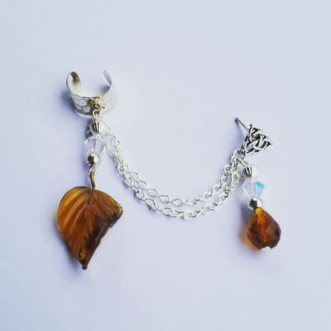 Autumn Leaf Ear Cuff
