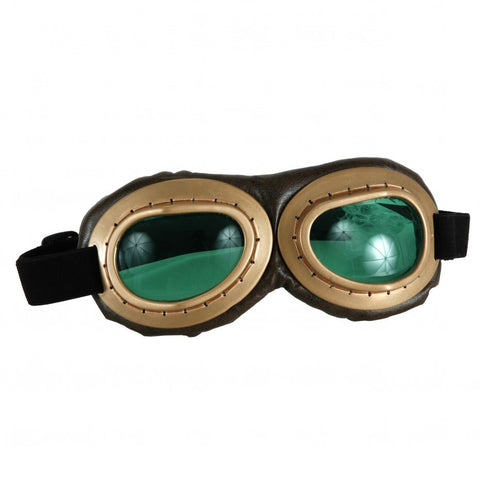 Aviator Goggles Gold and Brown