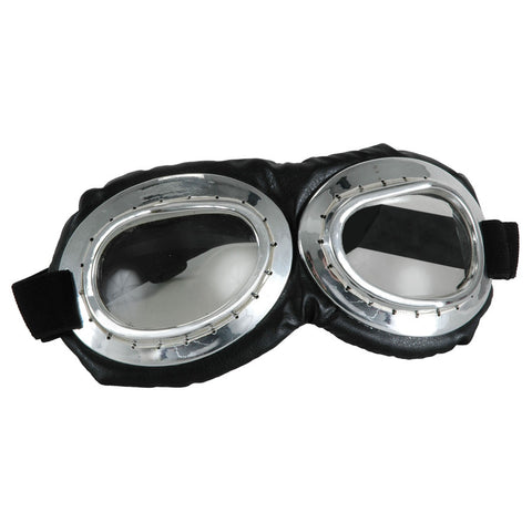 Aviator Goggles Silver and Black