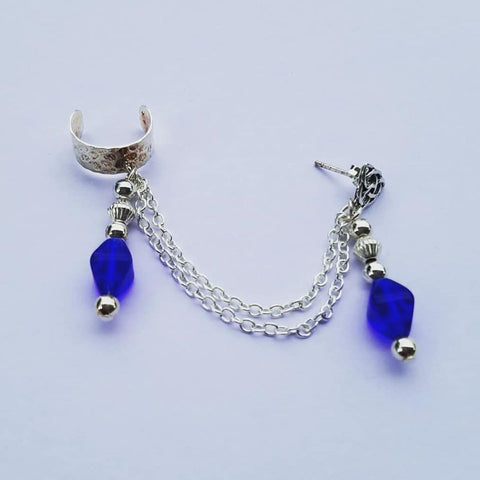 Blue Royal Chain Cuff