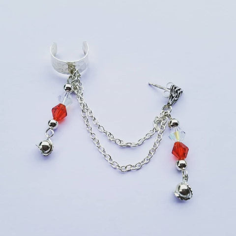 Red Star Tear Chain Cuff