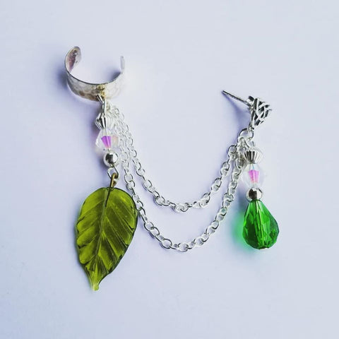 Summer Leaf Ear Cuff