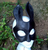 Leather Bunny Mask