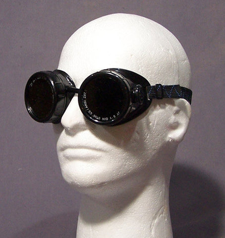 Plain Round Goggles - Gloss Black