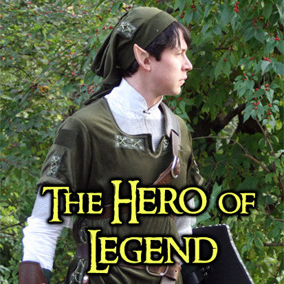 Hero of Legend Costume - Standard Tunic, Hat, & Shirt Combo